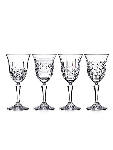 Waterford Crystal Castles White Wine Glasses, Set of Four