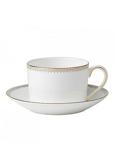 Vera Wang Wedgwood Golden Grosgrain Tea Cup and Saucer