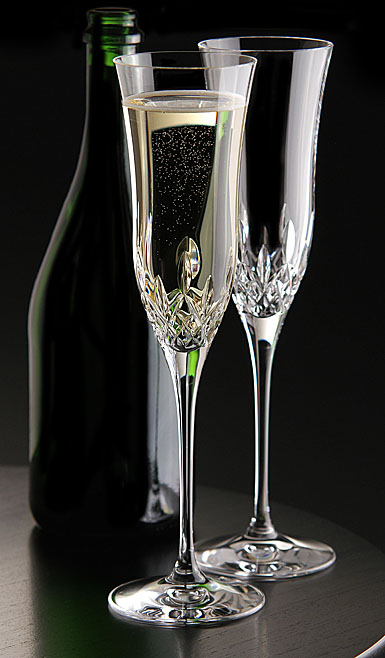 Waterford Crystal Lismore Essence Champagne Flutes, Pair