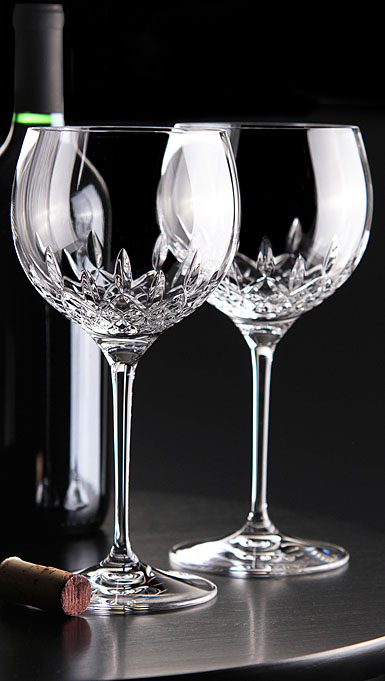 Waterford Crystal, Lismore Essence Balloon Wine, Pair