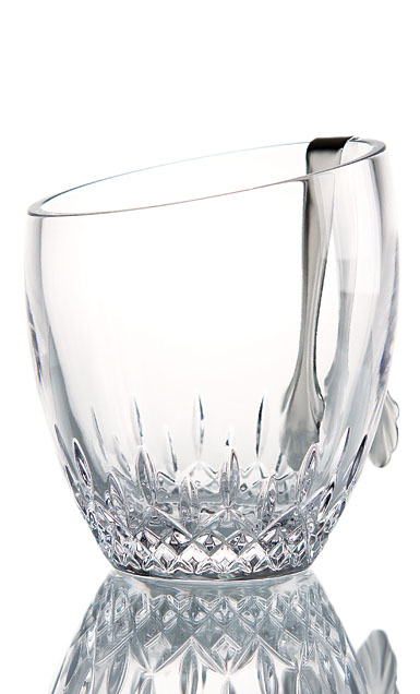 Waterford Crystal, Lismore Essence Angled Top Ice Bucket With Tongs