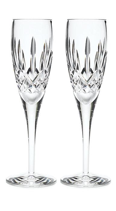 Waterford Crystal Lismore Nouveau Flutes, Pair