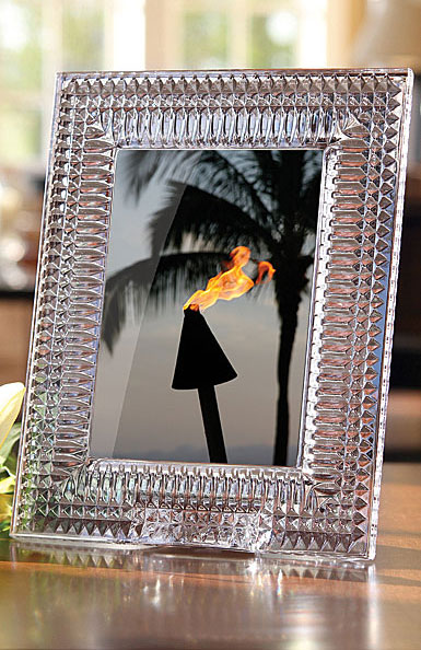 """Waterford Lismore Diamond 5x7"""" Picture Frame"""