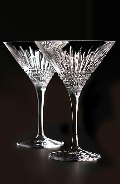 Waterford Crystal Lismore Diamond Martini, Pair