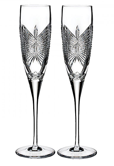 Waterford Crystal, True Love Happiness Champagne Toasting Flutes, Pair