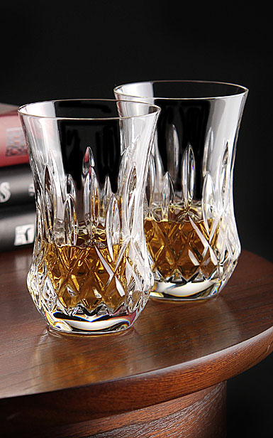 Waterford Lismore Flared Sipping Whiskey Crystal Tumbler, Pair