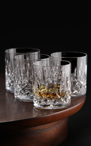 Waterford Crystal, Lismore Straight Sided Whiskey Tumblers, Set of Four