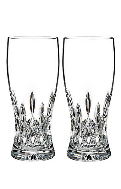 Waterford Crystal, Lismore Pint Beer Glass, Pair