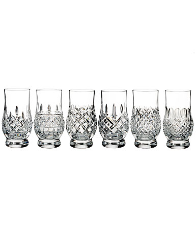 Waterford Crystal, Lismore Connoisseur Footed Tasting Glasses, Mixed Set of 6