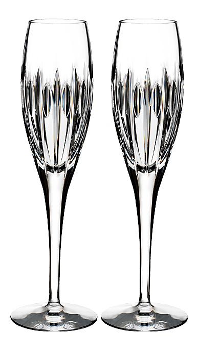 Waterford Crystal, Ardan Mara Toasting Flutes, Pair