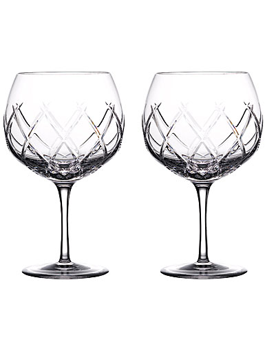 Waterford Crystal Gin Journeys Olann Balloon Glasses, Pair