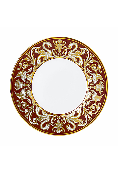 """Wedgwood Renaissance 9"""" Florentine Red Accent Plate"""