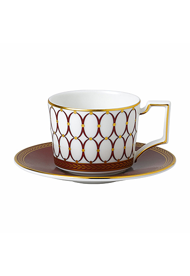 Wedgwood Renaissance Red Espresso Cup and Saucer