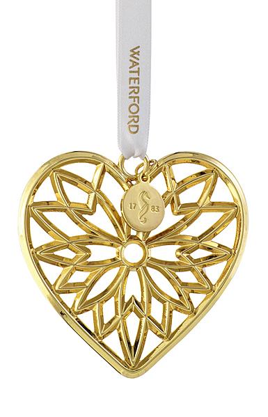 Waterford 2021 Heart Golden Ornament