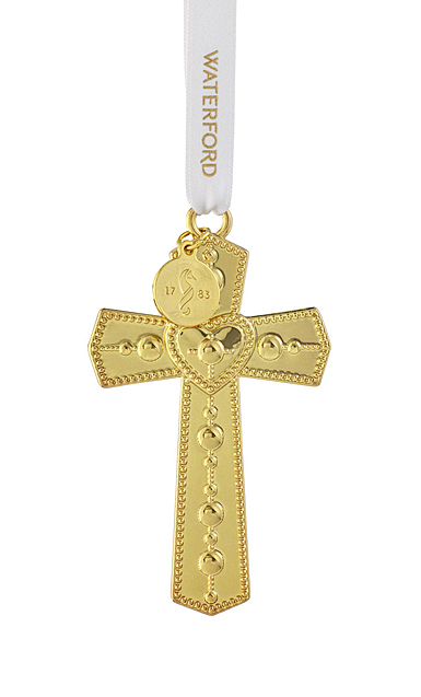 Waterford Crystal 2021 Cross Golden Ornament