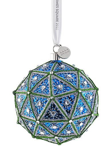 Waterford Crystal Times Square 2022 Gift of Wisdom Replica Dated Ball Ornament