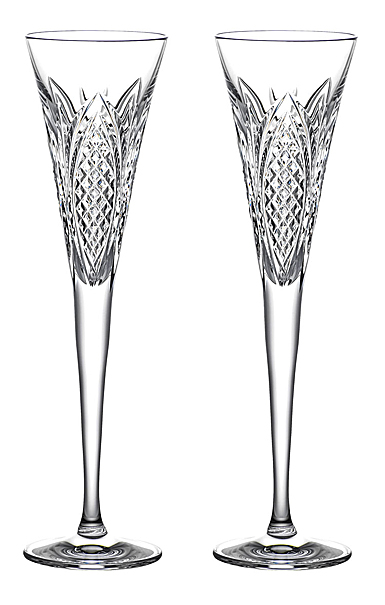 Waterford Crystal Times Square 2022 Gift of Wisdom Flute Pair