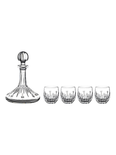 Waterford Crystal 2021 Winter Wonders Decanter and Tumbler Set of 4, Limited Edition