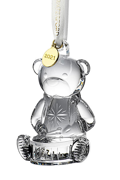 Waterford Crystal 2021 Baby's First Christmas Dated Ornament, Bear