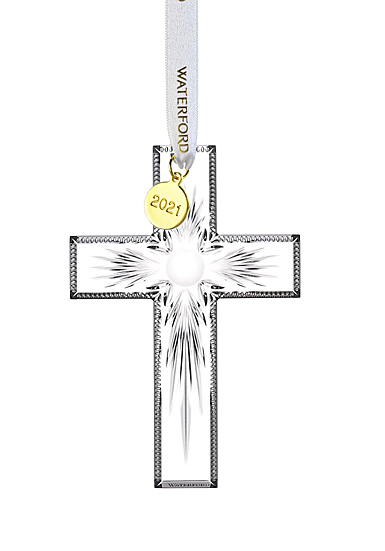 Waterford Crystal 2021 Cross Dated Ornament