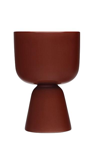 "Iittala Nappula Plant Pot Brown 9"""