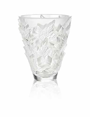 Lalique Crystal, Champs Elysees Small Crystal Vase, Clear