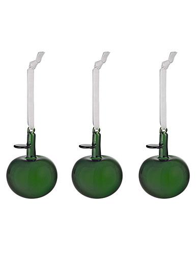 Iittala Green Apple Ornaments, Set of 3
