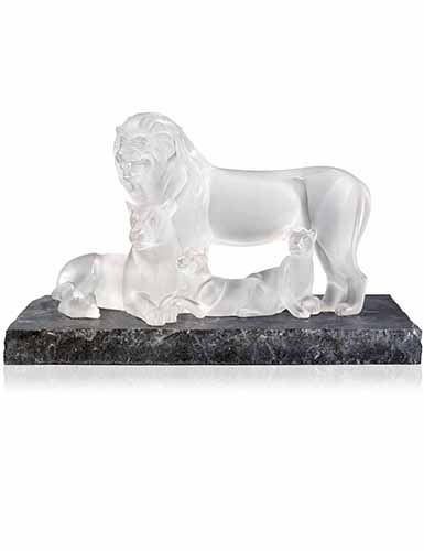 Lalique Crystal, Lion Sculpture, Clear, Limited Edition of 12