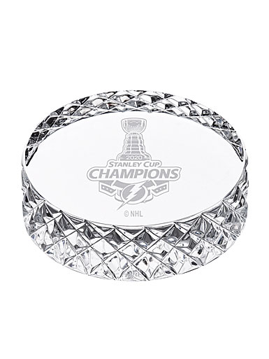 Waterford Crystal 2020 Tampa Bay Lightning NHL Stanley Cup Championship Hockey Puck
