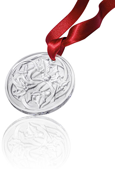 Lalique 2017 Annual Crystal Ornament Entrelacs, Clear