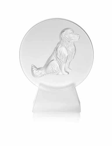 Lalique Crystal, Dog Crystal Paperweight