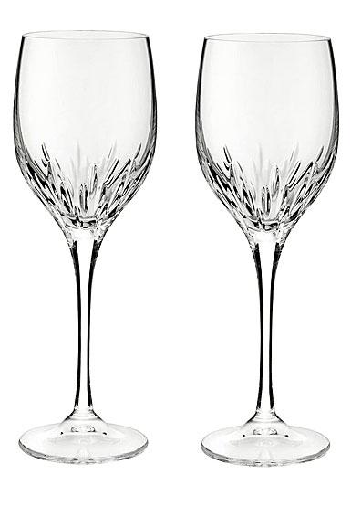 Vera Wang Wedgwood, Duchesse Crystal Wine Glasses, Pair