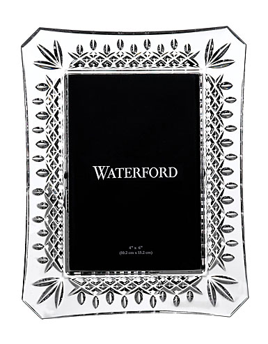 """Waterford Lismore 4x6"""" Crystal Picture Frame"""