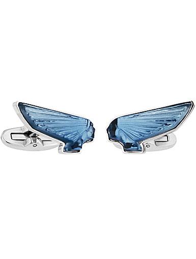 Lalique Victoire Mascottes Cufflinks Pair, Sapphire Blue