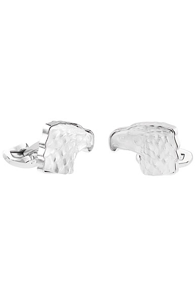 Lalique Crystal Eagle Cufflinks Pair, Clear