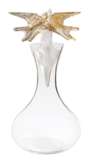 Lalique Hirondelles Gold Decanter Vintage Limited Edition