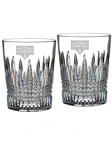 Waterford 2020 MLB Champions LA Dodgers Lismore Diamond DOF Glasses, Pair