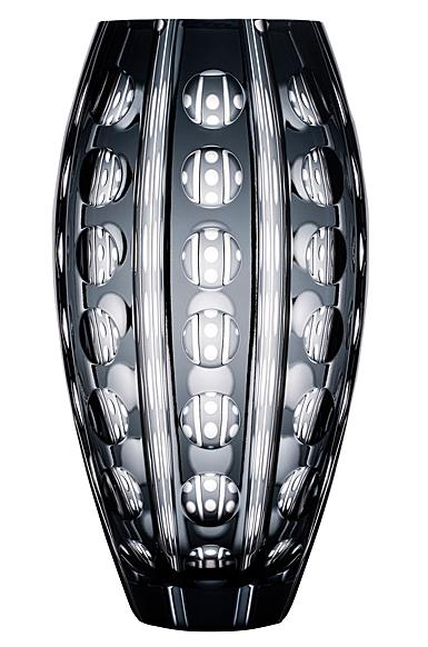 "Rogaska Madame Loren 12"" Black Vase"