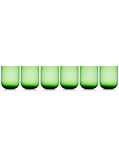 Rogaska Monaco Tumbler Green Set of 6