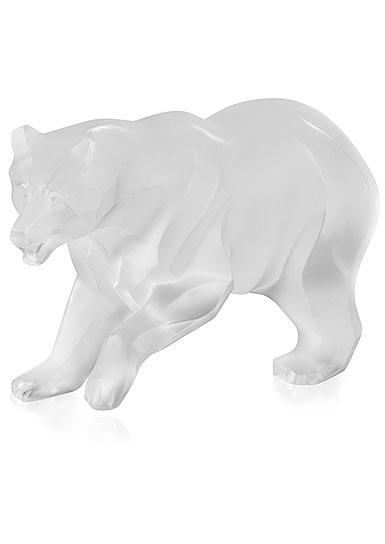 Lalique Bear Sculpture, Clear