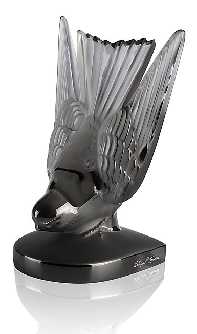 Lalique Hirondelle, Swallow Paperweight, Grey