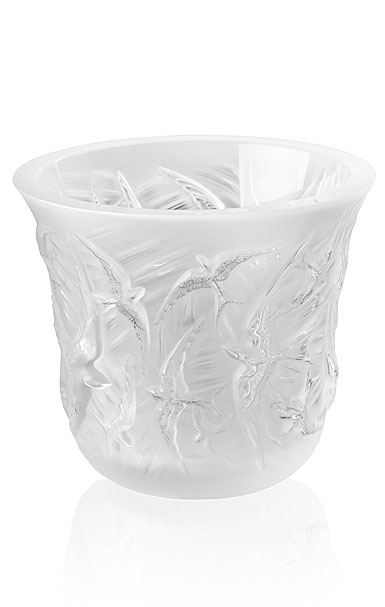 Lalique Hirondelles, Swallows Votive, Clear