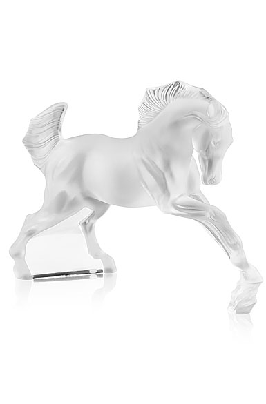 Lalique Cheval, Horse Sculpture, Clear