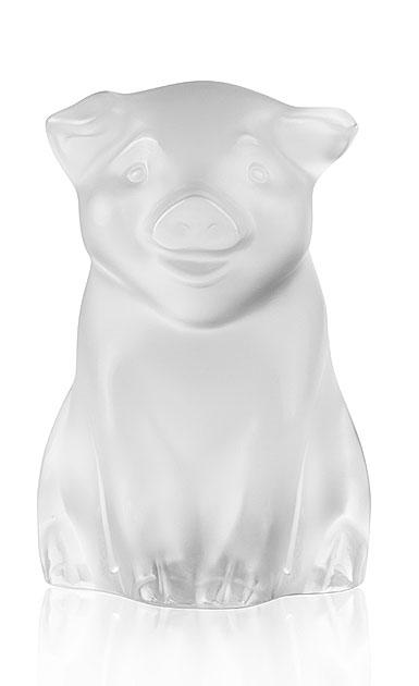 Lalique Cochon, Pig Sculpture, Clear