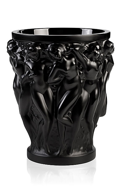 Lalique Vase Bacchantes Small, Noir Black