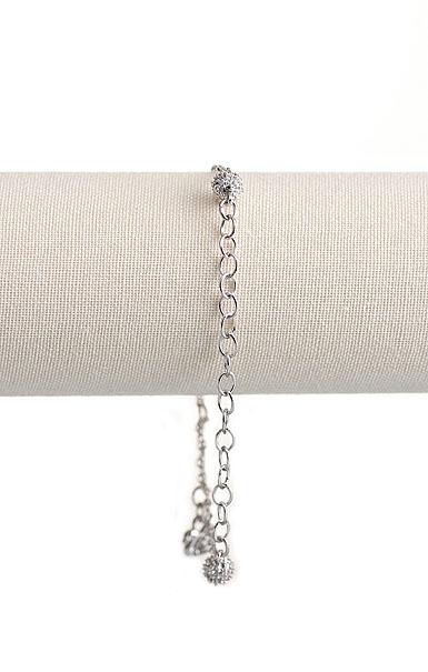 Swarovski Rhodium Charm Carrier Bracelet