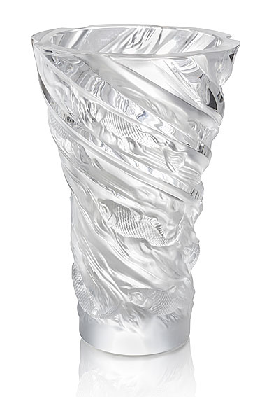 Lalique Carpes Koi Aquatique Vase, Clear