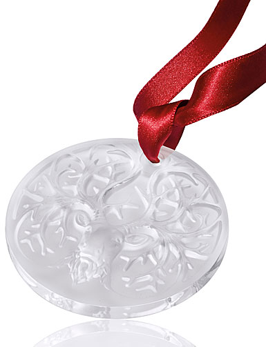 Lalique 2019 Reindeer Christmas Ornament, Clear