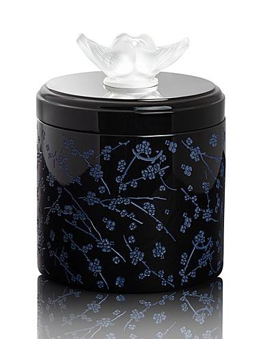 Lalique Fleurs De Cerisiers Lacquer Wood Box, Large