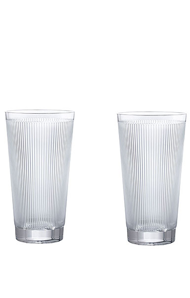 Lalique Wingen Highball Glasses, Pair